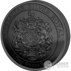 QUEEN OF GIBRALTAR Reina Golden Enigma 1 Oz Moneda Plata 15£ Pounds United Kingdom 2014