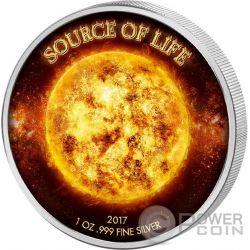 SOURCE OF LIFE Fuente Vida 1 Oz Moneda Plata 1000 Francos Benin 2017