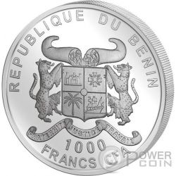 SOURCE OF LIFE 1 Oz Silver Coin 1000 Francs Benin 2017