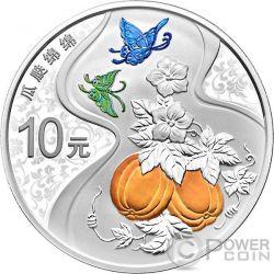 GUA DIE MIAN MIAN Auspicious Culture Серебро Монета 10 Юаней Китай 2017