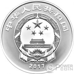 GUA DIE MIAN MIAN Auspicious Culture Moneta Argento 10 Yuan China 2017