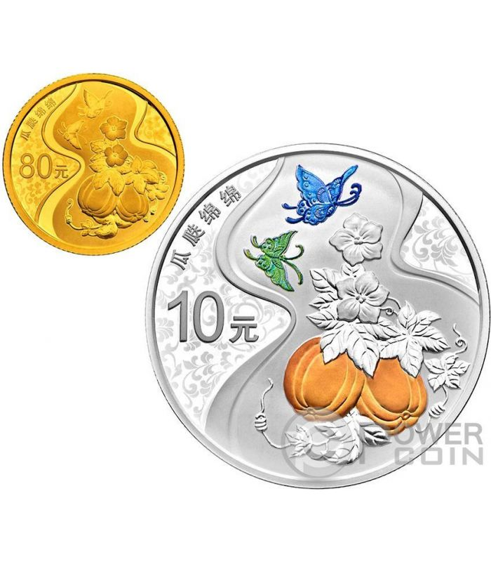 China 2015 One Set of 4 Pcs of 1oz Silver Coins Chinese Auspicious Culture