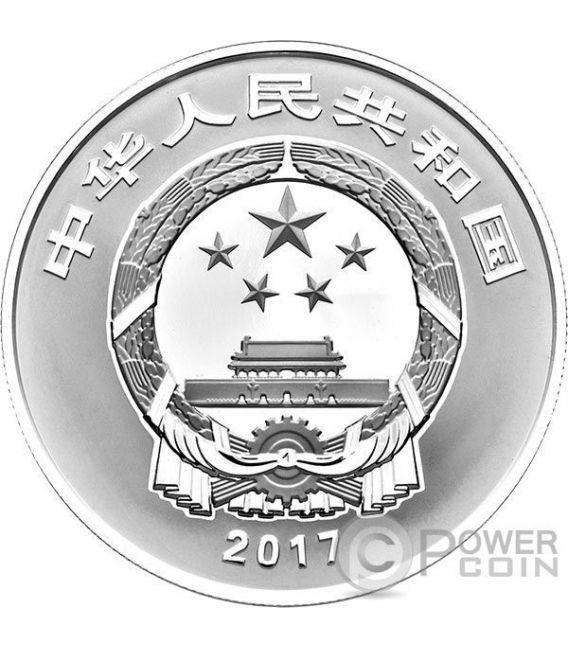 GUA DIE MIAN MIAN Auspicious Culture Set Moneda Plata 10 Yuan Oro 80 Yuan China 2017