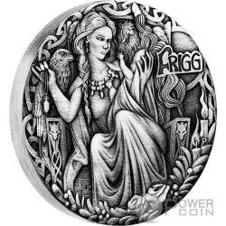 FRIGG Norse Goddesses 2 Oz Moneta Argento 2$ Tuvalu 2017