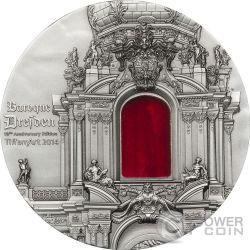 TIFFANY ART BAROQUE DRESDEN 2 Oz Moneda Plata 10$ Palau 2014