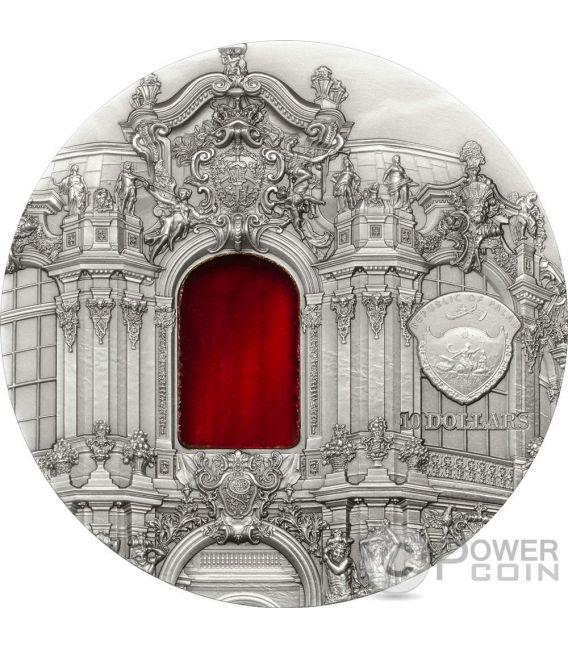 TIFFANY ART BAROQUE DRESDEN 2 Oz Silver Coin 10$ Palau 2014