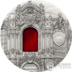 TIFFANY ART BAROQUE DRESDEN 2 Oz Silver Coin 10$ Palau 2014