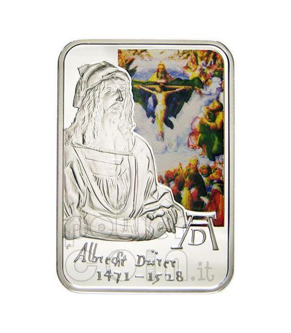 DURER ALBRECHT Moneda Plata Engraving Adam And Eve 10D Andorra 2010