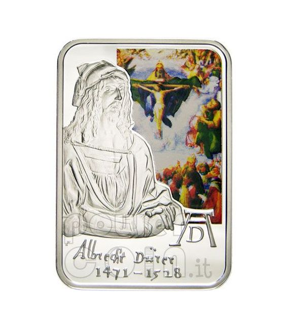 DURER ALBRECHT Moneta Argento Incisione Adamo e Eva 10D Andorra 2010