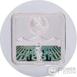 BARCELONA Labyrinths Of The World 2 Oz Серебро Монета 5000 Драм  Армения 2017