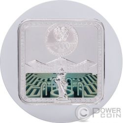 BARCELONA Labyrinths Of The World 2 Oz Silver Coin 5000 Dram Armenia 2017