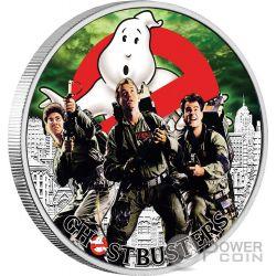 CREW Squadra Acchiappafantasmi Ghostbusters 1 Oz Moneta Argento 1$ Tuvalu 2017