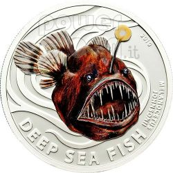 MELANOCETUS Humpback Anglerfish Moneda Plata 2$ Pitcairn Islands 2010
