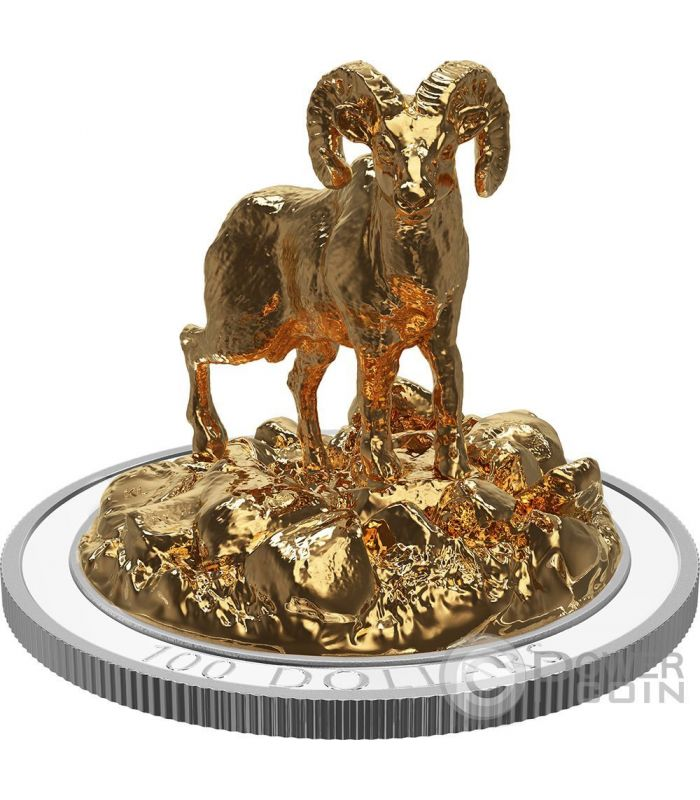 Bighorn Sheep Sculpture Of Majestic Animals 3d Silver Coin