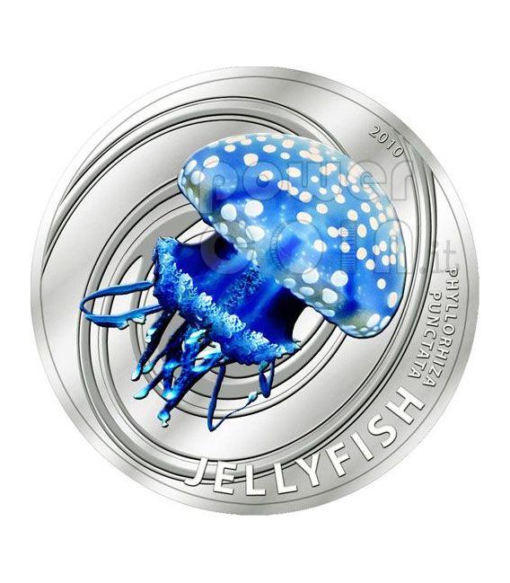 MEDUSA Jellyfish Moneta Argento 2$ Pitcairn Islands 2010