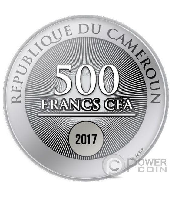 SOS PALMYRA Silver Coin 500 Francs Cameroon 2017