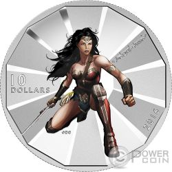 WONDER WOMAN Batman v Superman Dawn of Justice Silver Coin 10$ Canada 2016