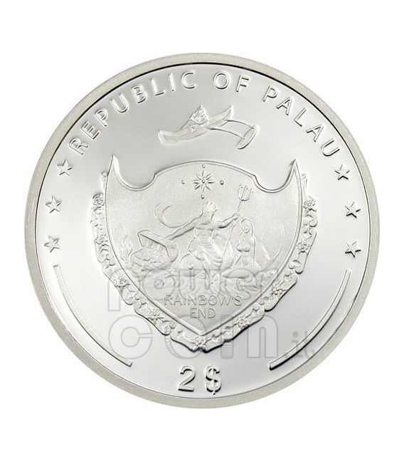 MADRE TERESA 100 Anniversario Moneta Argento 2$ Palau 2010