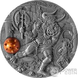 MINOTAUR Minotauro Ancient Myths 2 Oz Moneta Argento 5$ Niue 2017