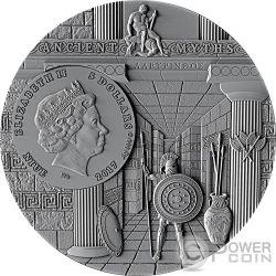 MINOTAUR Minotauro Ancient Myths 2 Oz Moneda Plata 5$ Niue 2017