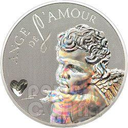 ANGEL OF LOVE Hologram Moneda Plata 1000 Francs Cameroon 2010