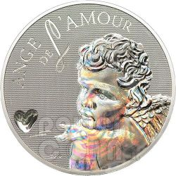 ANGEL OF LOVE Hologram Silver Coin 1000 Francs Cameroon 2010