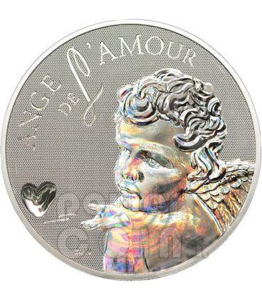 ANGEL OF LOVE Ologramma Moneta Argento 1000 Franchi Camerun 2010