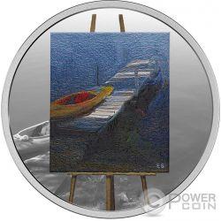 PADDLE AWAITS En Plein Air 1 Oz Silver Coin 20$ Canada 2017