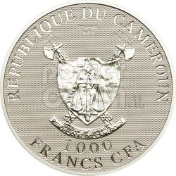 ANGEL OF LOVE Hologram Moneda Plata 1000 Francs Cameroon 2010