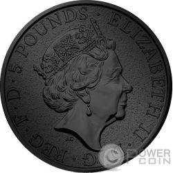 GRIFFIN Queen Beasts Golden Ruthenium 2 Oz Серебро Монета 5£ Великобритания 2017