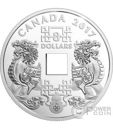 Feng shui good luck charms silver coin 8 canada 2017 - Feng shui good luck coins ...