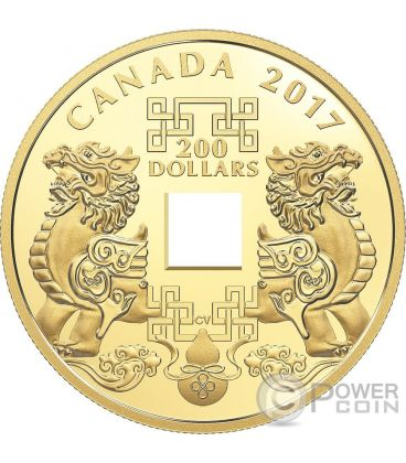 FENG SHUI GOOD LUCK CHARMS Gold Coin 200$ Canada 2017