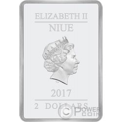 FLOWERS AND TREES Disney 1 Oz Silver Coin 2$ Niue 2017