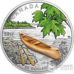 CANOE TO TRANQUIL TIMES 1 Oz Moneda Plata 20$ Canada 2017