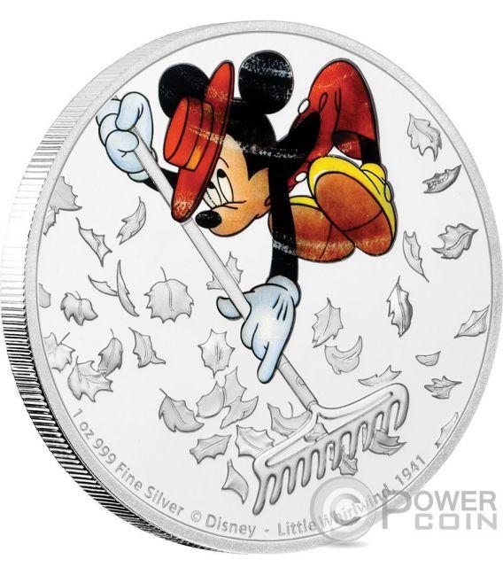 LITTLE WHIRLWIND Mickey Through The Ages Disney 1 Oz Moneta Argento 2$ Niue 2017