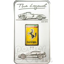 FERRARI GTO The Legend Moneta Argento 5$ Cook Islands 2010