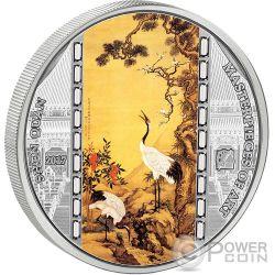 SHEN QUAN Masterpieces of Art 3 Oz Silver Coin 20$ Cook Islands 2017