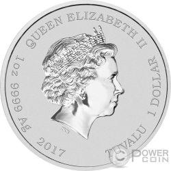 SLIMER Pegajoso Moquete Cazafantasmas Ghostbusters 1 Oz Moneda Plata 1$ Tuvalu 2017
