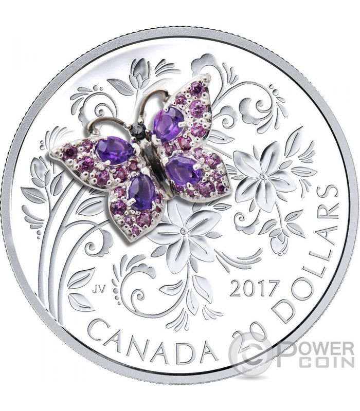 Butterfly Bejeweled Bugs 1 Oz Silver Coin 20 Canada 2017