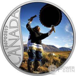 DRUM DANCING 150 Aniversario Moneda Plata 10$ Canada 2017