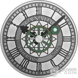 PEACE TOWER CLOCK Torre Pace 90 Anniversario 5 Oz Moneta Argento 10$ Canada 2017