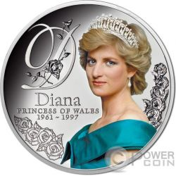 DIANA PRINCESS OF WALES Principessa Galles Moneta Argento 1$ Tokelau 2017