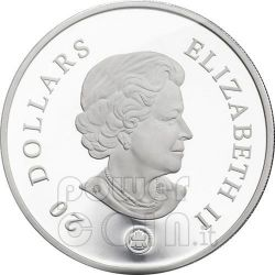 SNOWFLAKE SAPPHIRE Silber Münze Swarovski 20$ Canada 2008