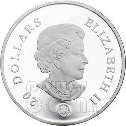 SNOWFLAKE SAPPHIRE Silver Coin Swarovski 20$ Canada 2008