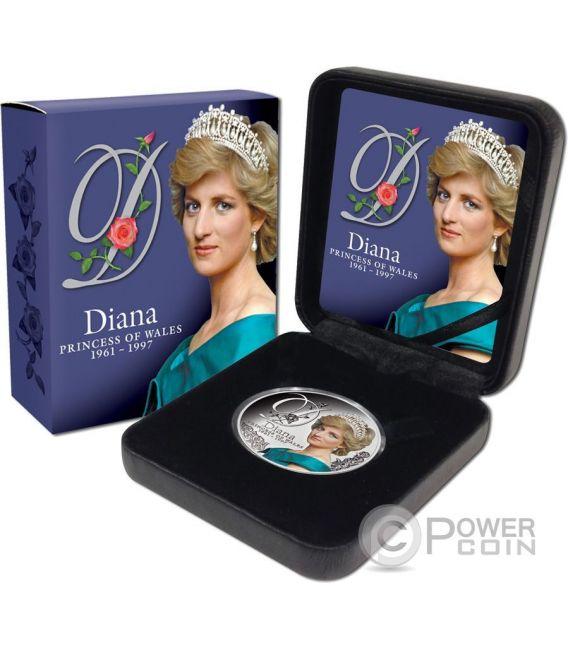DIANA PRINCESS OF WALES Princesa Gales Moneda Plata 1$ Tokelau 2017