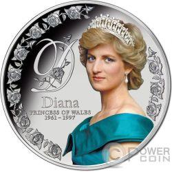 DIANA PRINCESS OF WALES Principessa Galles 5 Oz Moneta Argento 10$ Tokelau 2017