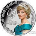 DIANA PRINCESS OF WALES Principessa Galles 5 Oz Moneta Argento 10$ Tokelau 2017