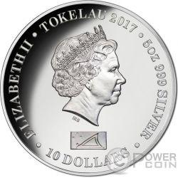 DIANA PRINCESS OF WALES 5 Oz Серебро Монета 10$ Токелау 2017