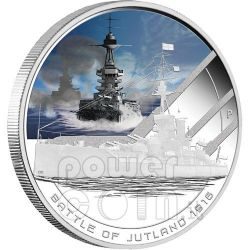 JUTLAND Battaglia Navale 1916 Moneta Argento 1$ Cook Islands 2011
