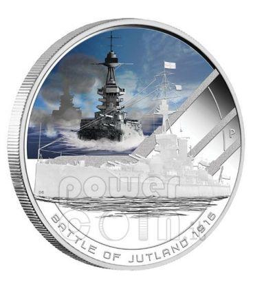 JUTLAND Battaglia Navale 1916 Moneta Argento 1$ Cook Islands 2011